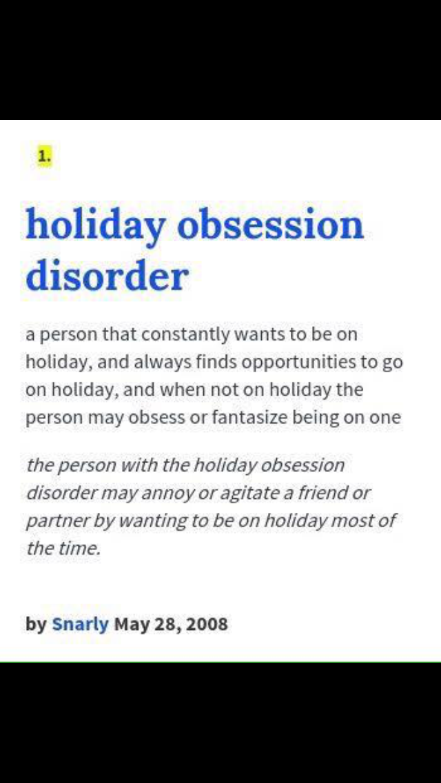 Holiday Obsession Disorder